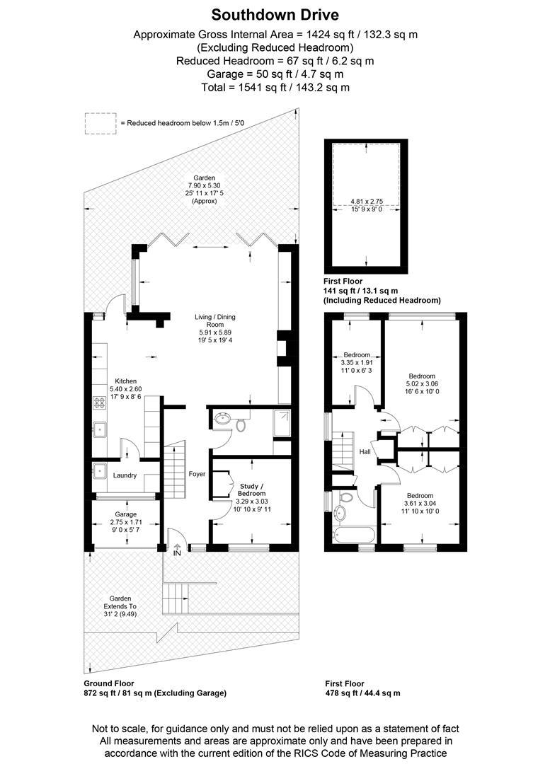 Floorplan for Southdown Drive, Wimbledon